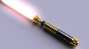 3d model of lightsaber