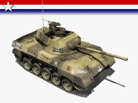 3d model of tank destroyer m18