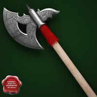 obj medieval axe v12