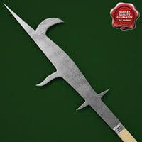 3ds max medieval spear v5