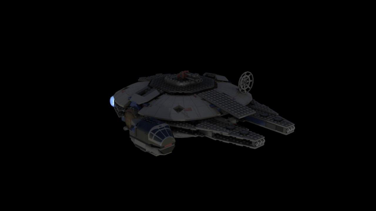 3d model lego falcon