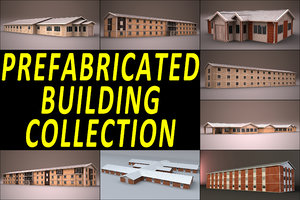 prefabricated building 3d model