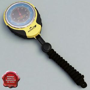 3d pocket fishing barometer altimeter