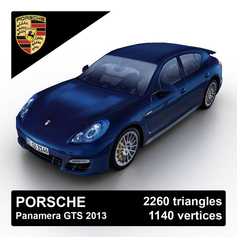 3d model 2013 porsche panamera gts