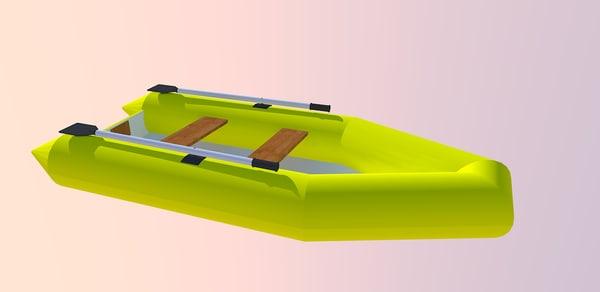 3d model rubber boat