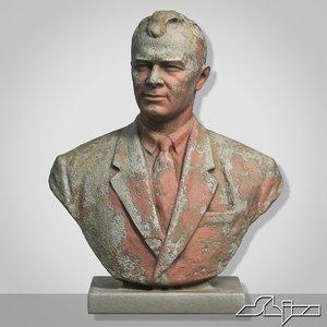 3d model of man bust