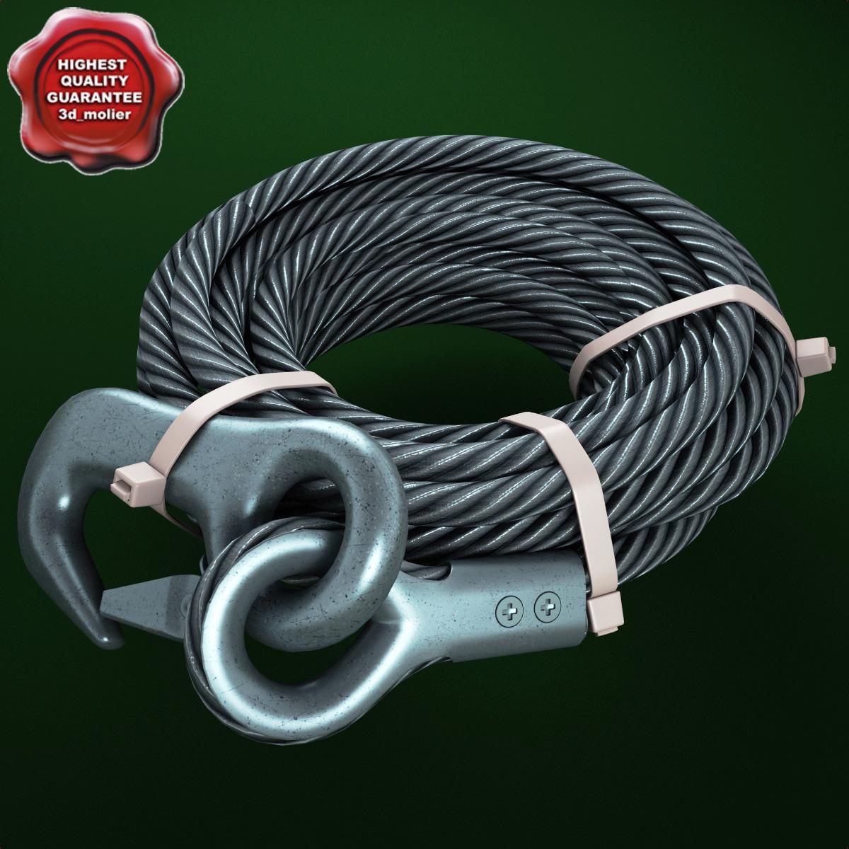 steel wire rope 3d model