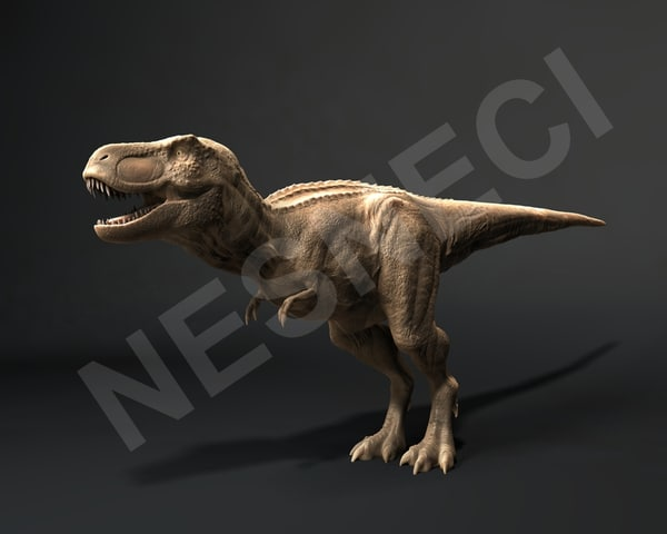 trex animation 3d model