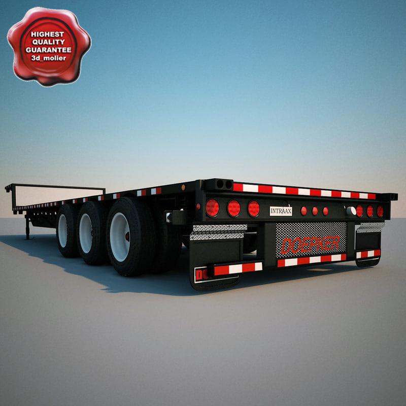 3d trailer tridem dropdeck doepker