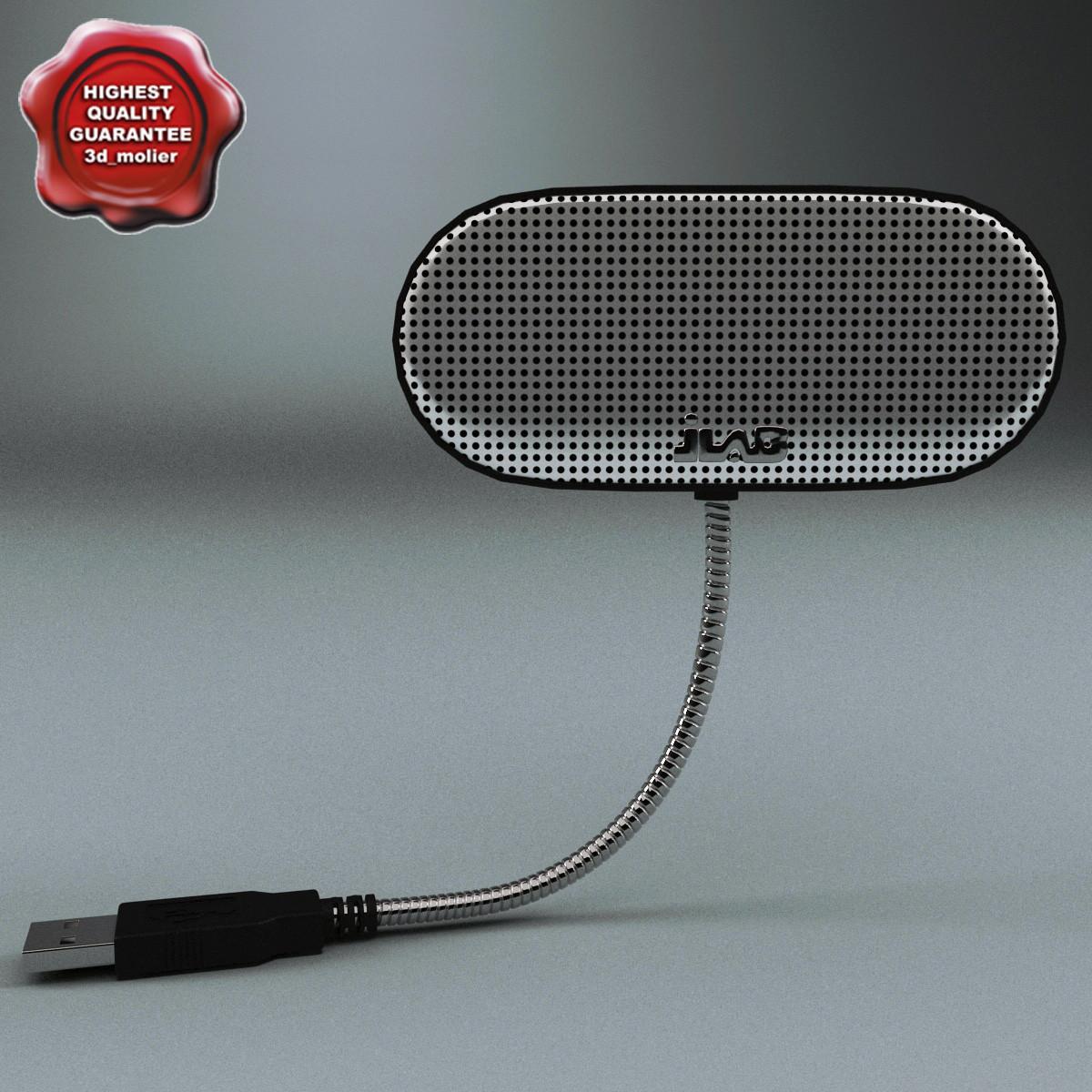 usb laptop speaker 3d model