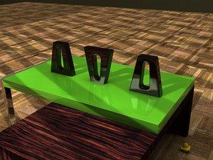 vase decoration 3d 3ds