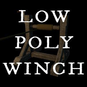 wooden winch 3ds