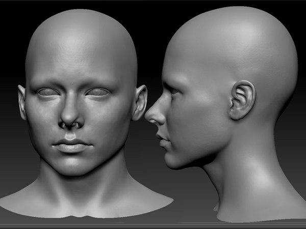 3d woman head model