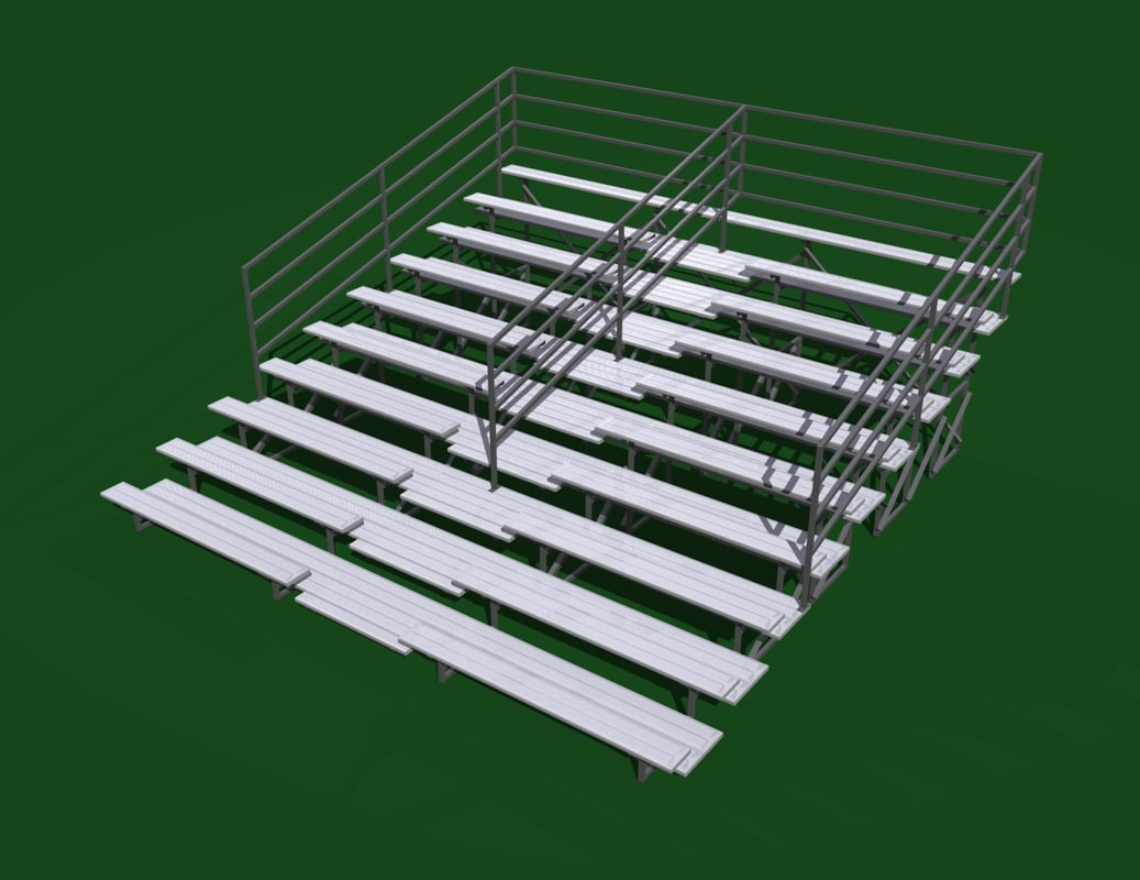 3d bleacher seats sporting model