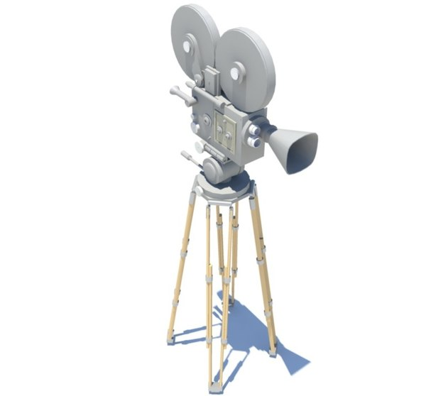classic film camera obj