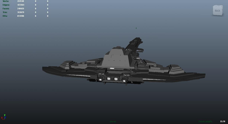3d destx space ship model