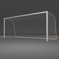 soccer goal 3d max