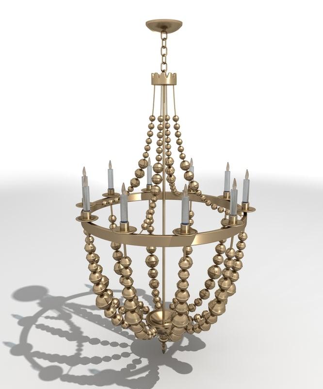 3dsmax grand chandelier lighting