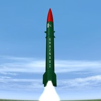 hatf-iii missile pakistan 3d model