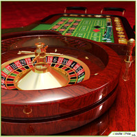 casino roulette wheel table 3d model