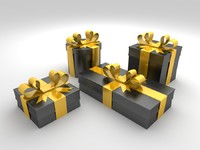 black gift boxes max