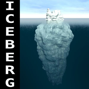 3d model iceberg mountain ice