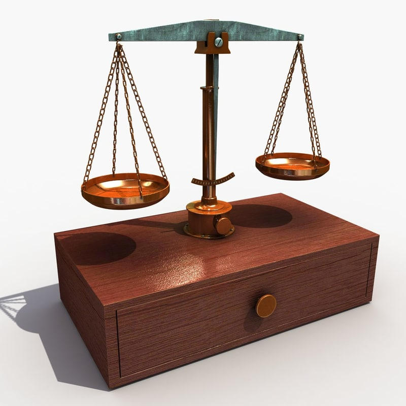 old balance scale 3d model