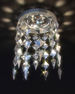 3d model ceiling halogen lamp