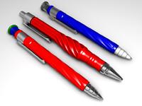 pens ballpens 3d model