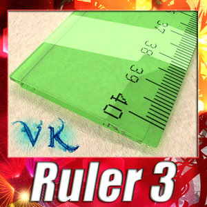 3d model ruler