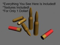 3ds max bullets shells