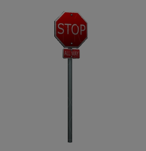 stop sign obj free