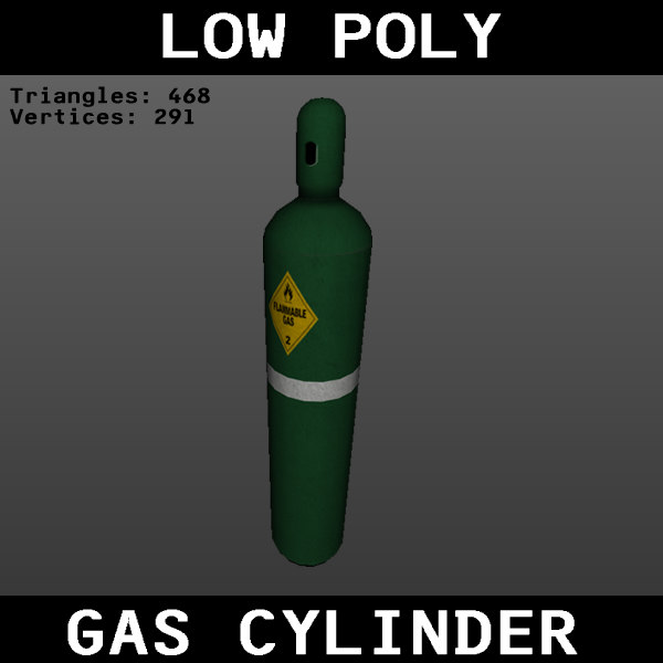 gas cylinder 3ds free