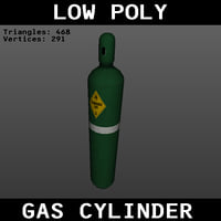 Low Poly Gas Cylinder