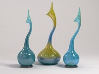3 vases in the style of a tornado