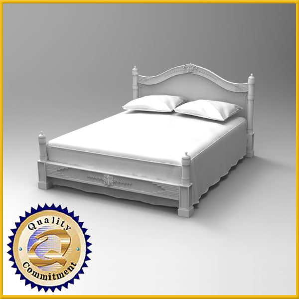 3d wooden bed model