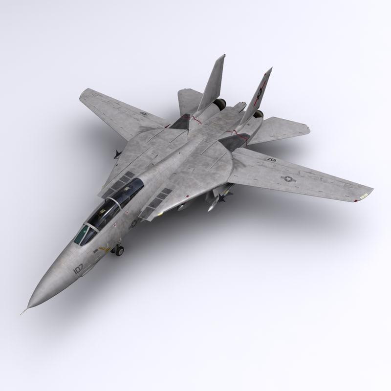 f-14 vf-41 tomcats 3d max