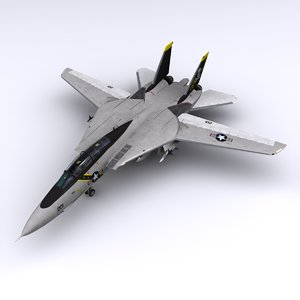 f-14 fighter jet vf-84 3d model