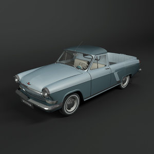 3d model gaz-22 volga pickup
