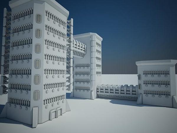 futuristic sci fi building max