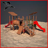 children playground 3d model