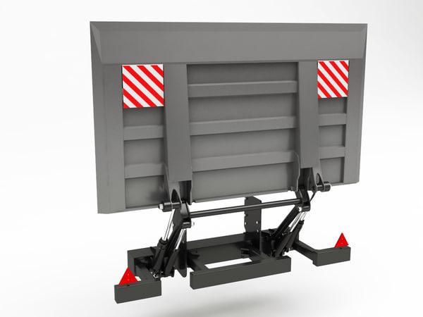 tail lift truck 3d c4d