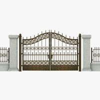 3ds wrought iron gate