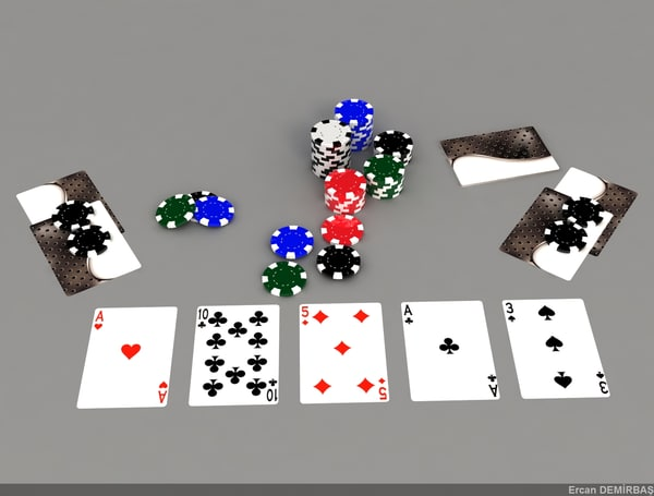 3d model of cards