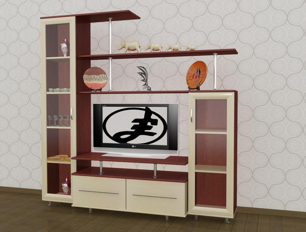 tv unit 3d model