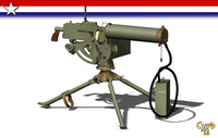 machine gun browning 3d lwo