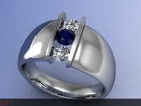 ring diamond 3d 3ds