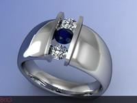 ring diamond 3d 3ds