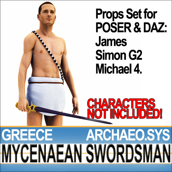 3ds props set daz ancient greek