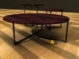 3d tables livingroom office model